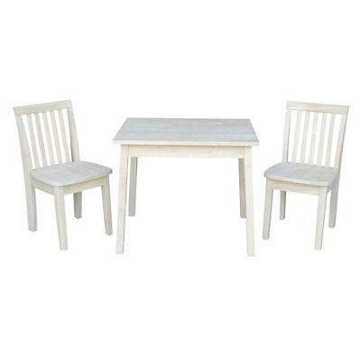 6783a44fcfd Harriet Bee Priestley 3 Piece Unfinished Kid s Rectangular Table and Chair  Set