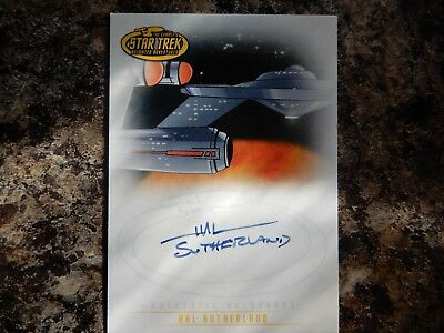 star trek the animated series hal sutherland autograph card