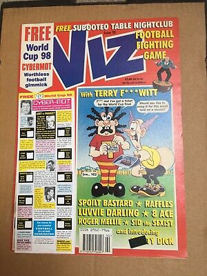 VIZ COMIC ISSUE NO 90 - ADULT COMIC - NOT FOR SALE TO CHILDREN - 1998 world cup