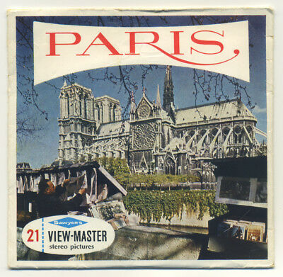 PARIS France Belgium-made Sawyer's ViewMaster Packet C-166-E English Edition