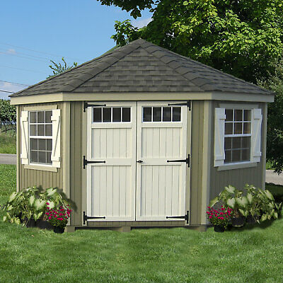 Little Cottage Company Colonial 10 ft. W x 10 ft. D Wooden Storage Shed