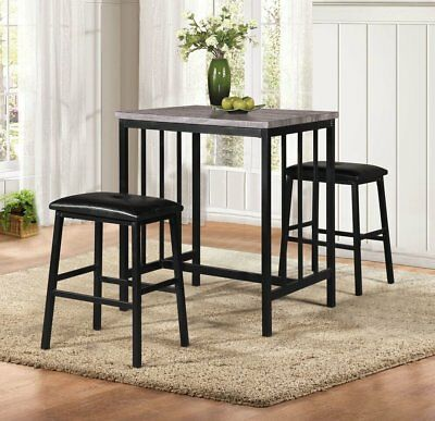 Winston Porter Norfolk 3 Piece Pub Table Set