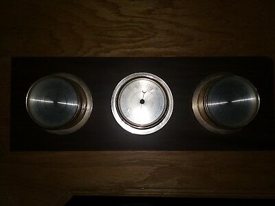Vintage Mid-Century Springfield Thermometer, Barometer, Humidity Weather Station