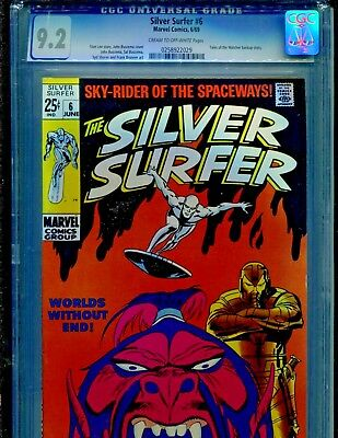 Silver Surfer #6 Marvel Comics 1969 CGC Graded 9.2