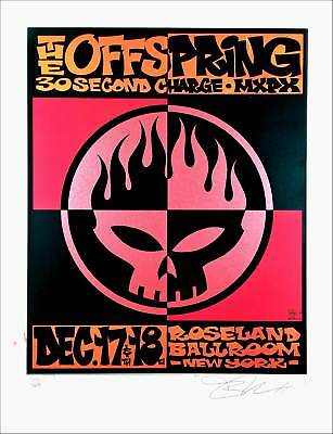Offspring Poster Roseland Ballroom NYC 2000 Original S/N 400 by Alan Forbes MINT