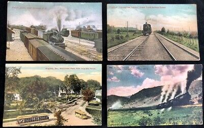600+ Huge Lot Town View Postcards Before 1915 Antique Outstanding Vintage Estate