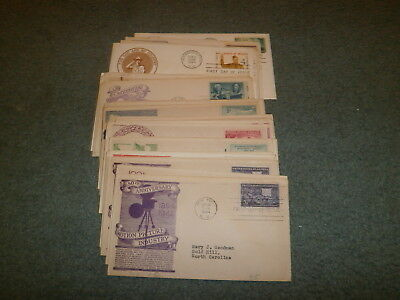 Us Fdc Collection, All W/anderson Cachet, 1940's On
