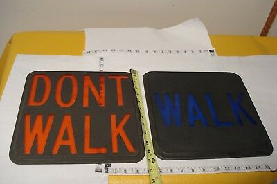 "Vintage Walk/Dont Walk 12""x12"" Glass Lens  Pedestrian Traffic Light"