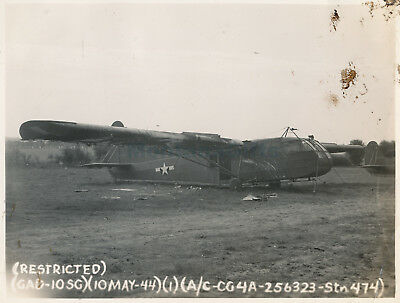 May 1944 USAAF 435th TCG 77th Troop Carrier Squadron Welford Eng Photo #1 Glider