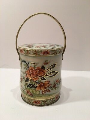 Vintage Design By Daner Long Island N.y 11101 Container Made In England Floral