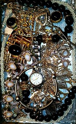 Huge Vintage & Now Jewelry Lot Estate Find Junk Drawer UNSEARCHED UNTESTED#*ruby
