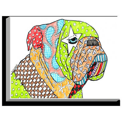 'English Bulldog' by Marley Ungaro Painting Print on Wrapped Canvas