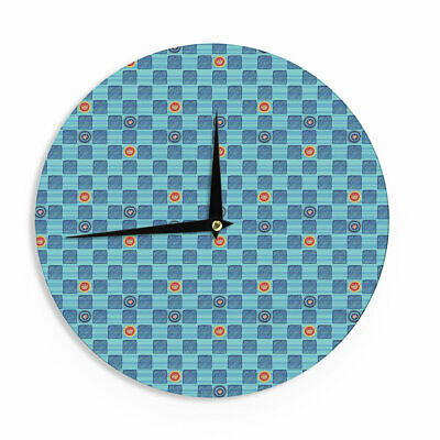 """East Urban Home Jane Smith 'Vintage Checkerboard' 12"""" Wall Clock"""