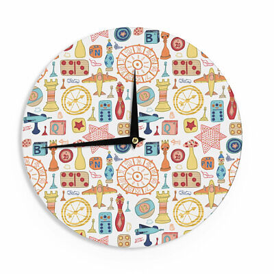 """East Urban Home Jane Smith 'Vintage Games' 12"""" Wall Clock"""