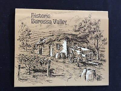 Vintage Fold Out Postcard - 1974 - Historic Barossa Valley SA -Sketched Pictures