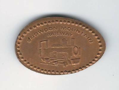 elongated Coin Wales, Snowdon Mountain Railway, EX! 2861