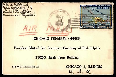 Ciudad Tanjillo May 13 1947 Single Franked Air Mail Cover To Chicago Il Usa
