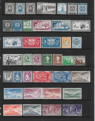 Ireland - 1929-1948 - 19 issues - 39 stamps   - mounted mint