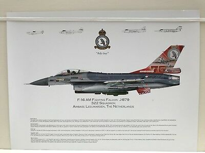 squadron print Of F16 Fighting Falcon Of The Royal Netherlands Air Force