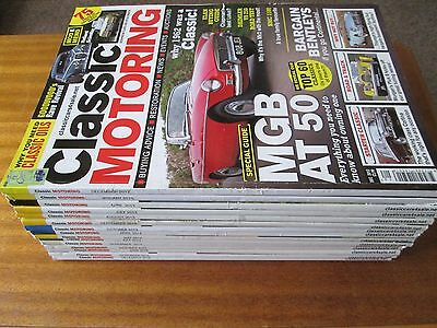 Collection of 15 Classic Motoring Car Magazines Lot 2012 2013 2014 2015 2016