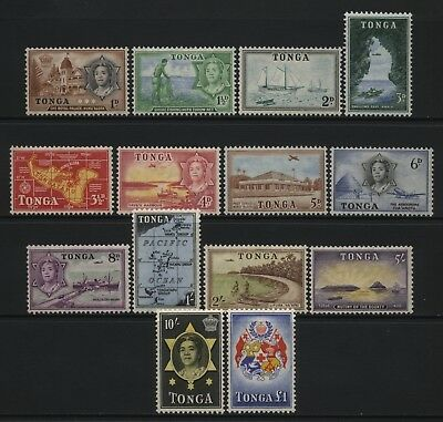 Tonga 1953 Multi Design Values Set Mounted Mint