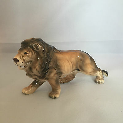 Vintage Retro 1950s 50s 1960s 60s lion animal china pottery figurine figure