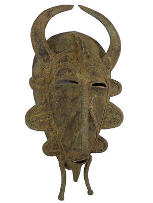 Senufo Brass Mask Ivory Coast African Art
