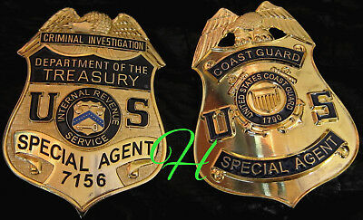 gf/ Collector badge + Special Agent Coast Guard OR Dept. of the Treasury / IRS