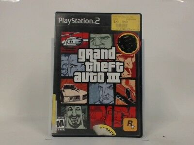 Grand Theft Auto Iii Playstation 2 Ps2 Complete In Box W/ Manual Cib Acceptable