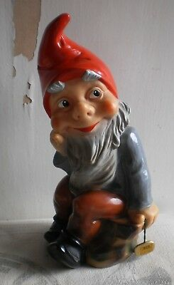 Vintage Heissner Lawn Gnome #923 Roto Mold with Tag West Germany