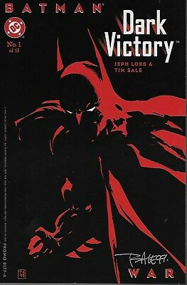 Batman: Dark Victory 12 Cover Prints / Cover Proofs Set Signed by Tim Sale 1999