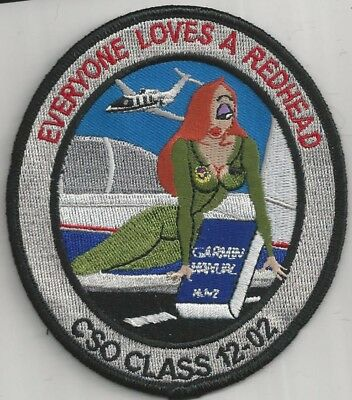 Usaf Combat Systems Officer Class 12-02 Patch -'everyone Loves A Redhead' Color
