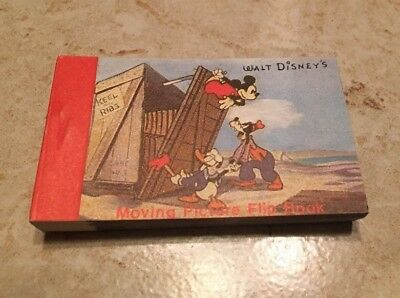 Disney Moving Picture Flip Book Mickey Mouse Donald Duck Pluto Vintage