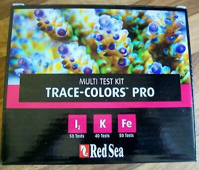 New Red Sea  Trace Colours Multi Test Kit Pro Coral Colors R21515 08/19