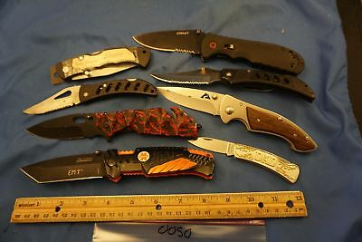 0050   Eight assorted  pocket knives