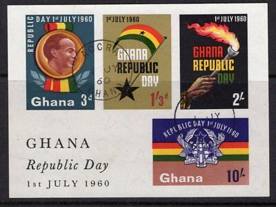 GHANA SGMS248a 1960 REPUBLIC DAY FINE USED