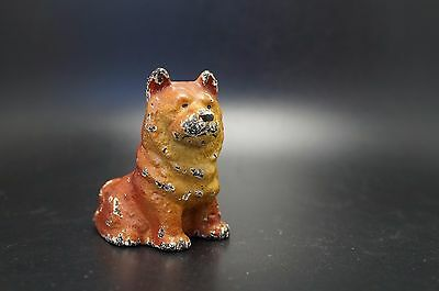 VTG Cast Iron HUBLEY Toy Party Favor CHOW CHOW Husky Dog