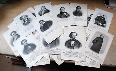 BEAU LOT DE 37 CARTES POSTALES ANCIENNES DE MUSICIENS ND Phot