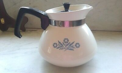 Vintage Corning Ware Blue Cornflower 6 Cup Teapot P-104 Tea Pot