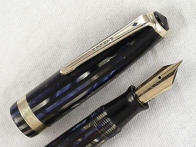 Vintage 1945 Striped Duofold Senior Parker Vacumatic Fountain Pen ~ Restored!