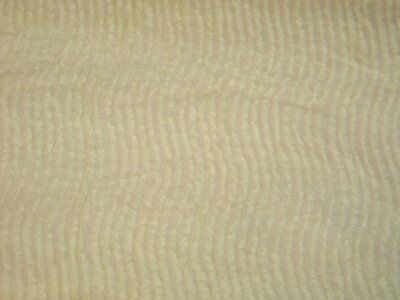 Antique Vintage Chenille Beadspread~Mid Century-1940s 1950s Yellow-Cutter-Crafts