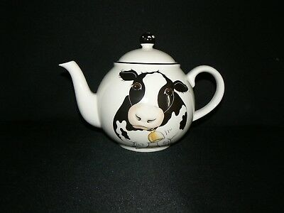 ARTHUR WOOD BACK TO FRONT COW LARGE TEA POT with LID