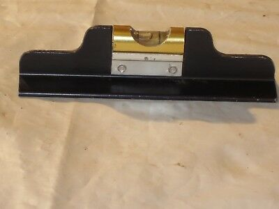 "Old Tool. Miniature 4"" Long Duncan Macklanburg Brass And Metal Level. Nice!"