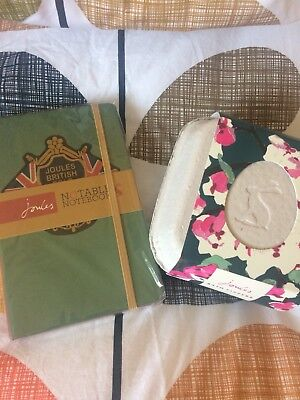Joules,, Bath Fizzers & Small Hardback Notebook Both New