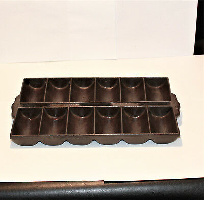 Vintage Cast Iron French Roll Pan