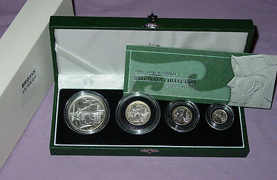 2003 Royal Mint Silver Proof Britannia Four Coin Collection