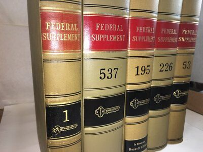 West's Federal Supplement Law Book Volume 43 LIMITED PUBLISHER INVENTORY (RARE)