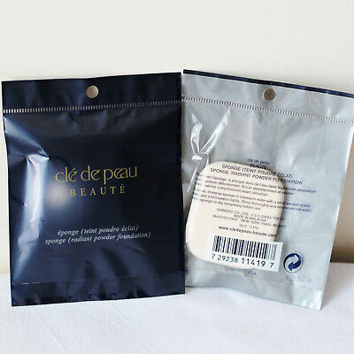 CLE DE PEAU Lot of 2 Powder Foundation Sponge Replacement, Full Size, Sealed