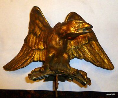 Antique Bronze Eagle Statue From A Mantel Clock
