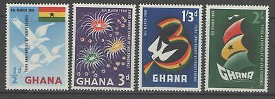 GHANA SG238/41 1960 3rd ANNIVERSARY OF INDEPENDENCE MNH